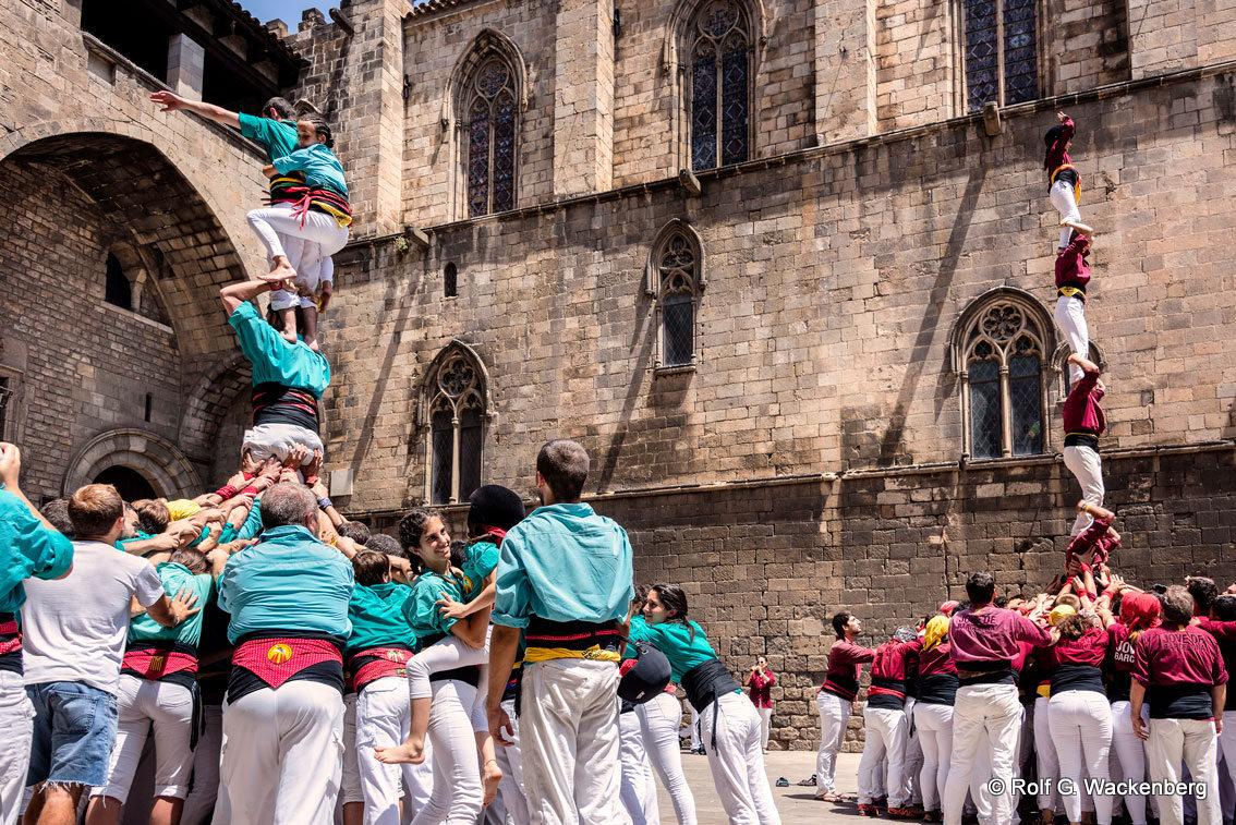 Castellers de Bacelona, Foto/Copyright: Rolf G. Wackenberg